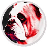 Southern Dawg By Sharon Cummings Round Beach Towel