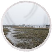 Southern Ebb And Flow Round Beach Towel