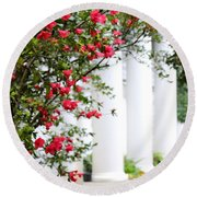 Southern Home - Digital Painting Round Beach Towel