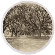 Southern Journey Sepia Round Beach Towel