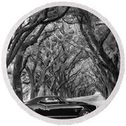 Southern Muscle Round Beach Towel