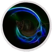 Southern Northern Lights Round Beach Towel
