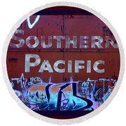 Southern Pacific Round Beach Towel