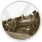 Southern Pacific Steam Locomotives No. 2847 2-8-0 1901 Round Beach Towel
