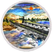Southern River Dam					 Round Beach Towel