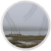 Southern Sea Fog Round Beach Towel