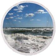 Southern Shores Splash Round Beach Towel