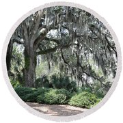 Southern Trees Round Beach Towel
