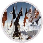 Southpole-antarctica-photos-2 Round Beach Towel