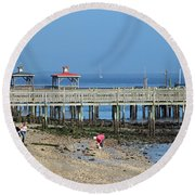Southport Nc Round Beach Towel