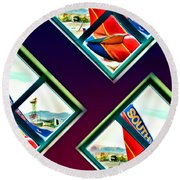 Southwest Airlines Round Beach Towel