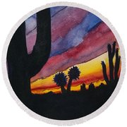 Southwest Art Round Beach Towel