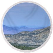 Southwest Views Round Beach Towel