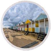 Southwold Beach Huts 4 Round Beach Towel