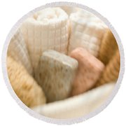 Spa Basket With Soaps Round Beach Towel
