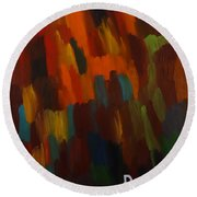Space Round Beach Towel