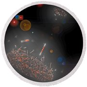 Space Junk Collectors Round Beach Towel