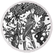 Space Observatory Round Beach Towel