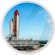 Space Shuttle Round Beach Towel