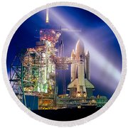 Space Shuttle Columbia Round Beach Towel