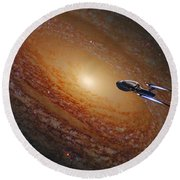 Space The Final Frontier Round Beach Towel