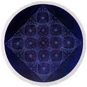 Space Time Sine Cosine And Tangent Waves Round Beach Towel