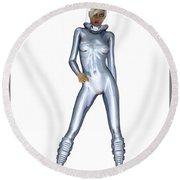 Spacegirl 3... Round Beach Towel