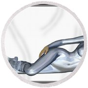 Spacegirl 5... Round Beach Towel