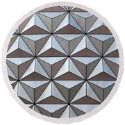 Spaceship Close Up Round Beach Towel