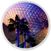 Spaceship Earth Round Beach Towel