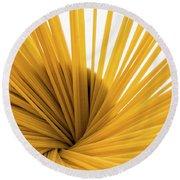 Spaghetti Spiral Round Beach Towel