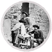 Spain Cowboys, C1875 Round Beach Towel