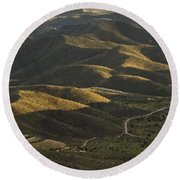 Spanish Landscape In Andalusia Round Beach Towel