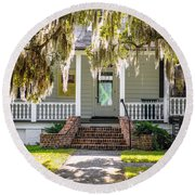 Spanish Moss Round Beach Towel