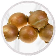 Spanish Onions Round Beach Towel