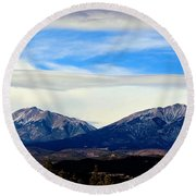 Spanish Peaks Magnificence Round Beach Towel