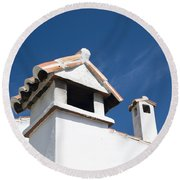 Spanish Rooftops Round Beach Towel by Anne Gilbert
