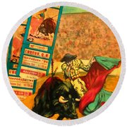 Spanish Tradition Round Beach Towel