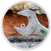 Spanner And Bolt Round Beach Towel