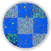 Sparkle Mandala Akaash Cosmos Pattern Bluecross Blue Cross Novino Signature   Art  Navinjoshi Artist Round Beach Towel