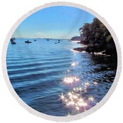 Sparkles And Twinkles Round Beach Towel