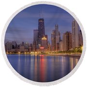 Sparkling Chicago  Round Beach Towel