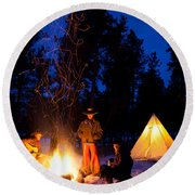 Sparks Of Inspiration Round Beach Towel by Inge Johnsson