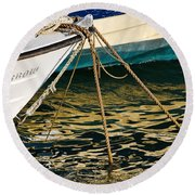 Sparrow At Lyme Regis Round Beach Towel