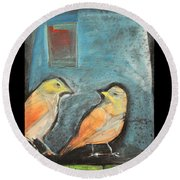 Sparrows Round Beach Towel
