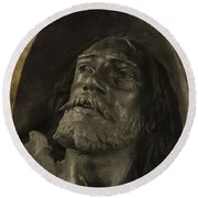 Spartacus Round Beach Towel by Dan Sproul