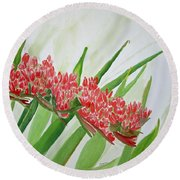 Spear Lily Round Beach Towel