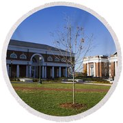 Special Collections Library And Alderman Library University Of Virginia Round Beach Towel
