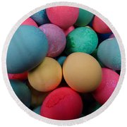 Speckled Easter Eggs Round Beach Towel