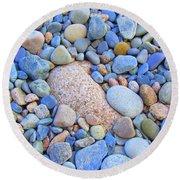 Speckled Stones Round Beach Towel